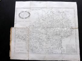 Chauncy Hertfordshire 1826 Antique Map of Hertford by Tyler after Herman Moll.